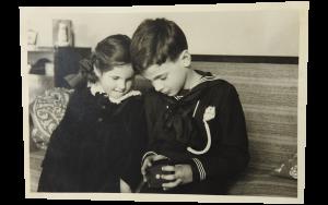 Piero Buscaroli con la sorella Paola
