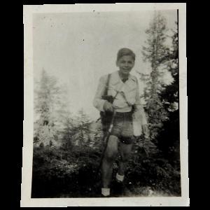Piero Buscaroli a 10 anni