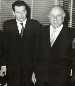 Con Francesco Messina, Napoli, estate 1974